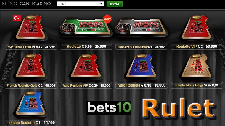 Bets10 Canlı Rulet